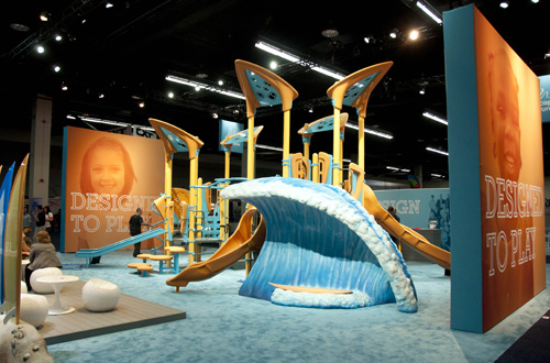 NRPA beach-themed booth design