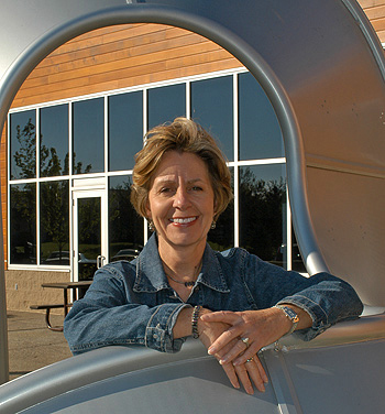 Barb King, cofounder of Landscape Structures, served as president until her passing in 2008.