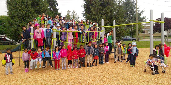 Sir Wilfrid Laurier Elementary & Annex celebrate their new playgrounds with a grand opening event on the last day of school.