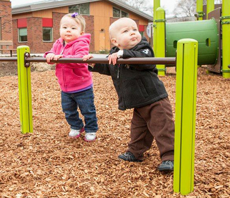 Help kids develop their balance with the Infant Balance Beam.