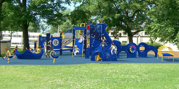 One design option for the Iola Kiwanis club's inclusive playground.