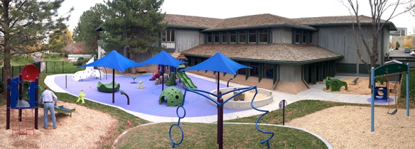 Dr. Miller created an inclusive playground with many sensory-rich activities at the STAR Center.