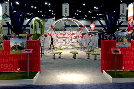 We featured the Eclipse Net Plus, our latest playground net climber, at NRPA 2013 in Houston.