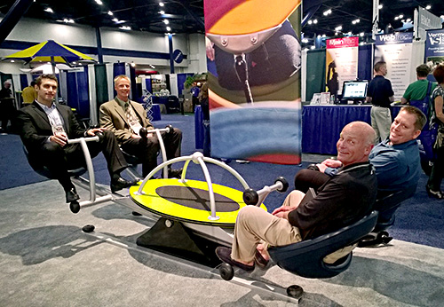 Our modern take on the traditional seesaw, We-saw, attracted many visitors to our NRPA booth.