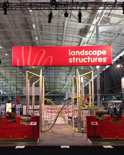 GeoNetrix offered ASLA attendees an opportunity to take a play break and test our new iconic playstructure.