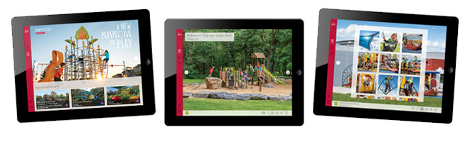 Bring the playgrounds featured in our Playground Inspirations book to life with the Playground Inspirations app.