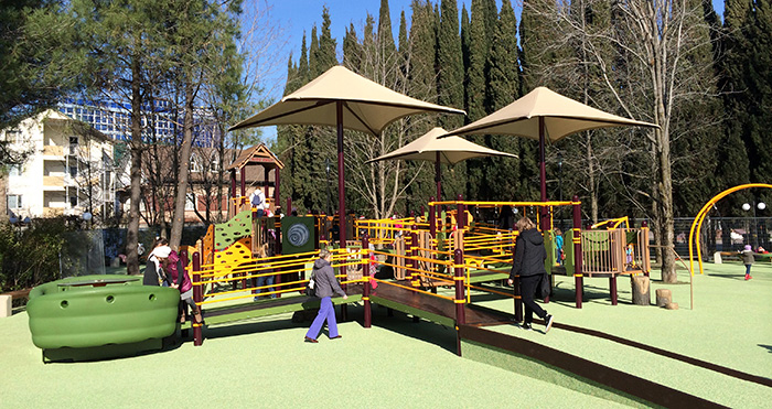 Sensory and accessible playground components will help welcome children and families of all abilities to play.