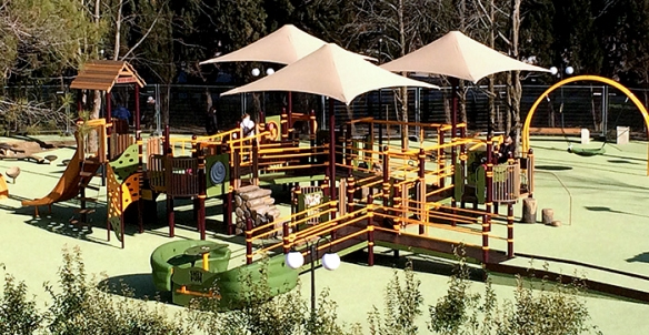 This is the first inclusive playground to be installed in Russia.