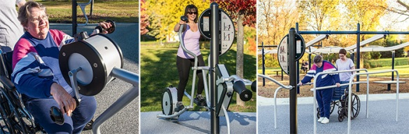 Fresh, newly designed HealthBeat® outdoor fitness system