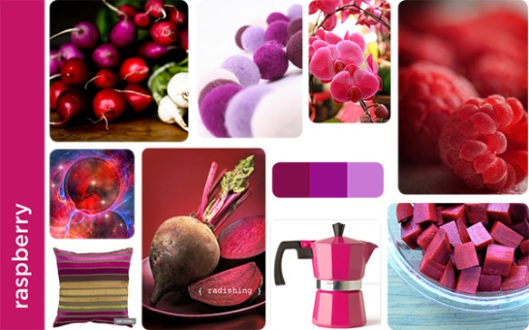 Berry mood board
