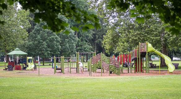 Plan for multiple age groups in your playground design.
