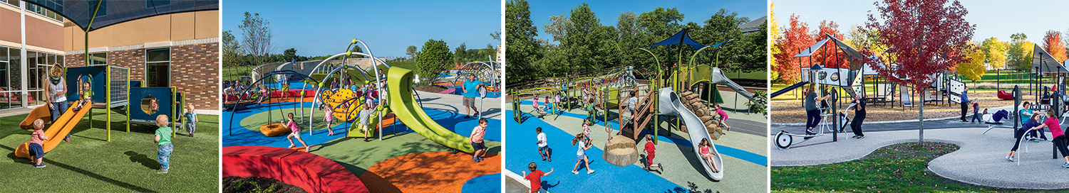 We have commercial playground equipment to meet the needs of all age groups.