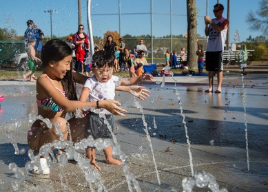 Splash play is perfect for families of all ages.