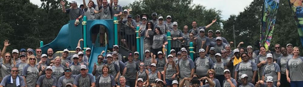 Principals build a playground at Catalina Elementary School in Orlando, Fla.